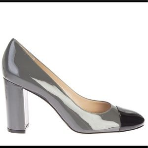 Gianvito Rossi Two Tone Patent Langley Pumps
